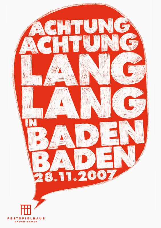 Achtung Achtung Lang Lang in Baden Baden